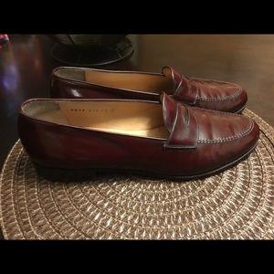 Salvatore Ferragamo Brown Leather Penny Loafers
